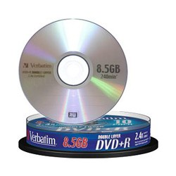 DVD+R Doble Capa 8x Verbatim Pack 10
