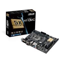 Placa Base INTEL s1151 ASUS H110M-C 2xDDR4 VGA DVI 4xSATA3 4xUSB3 mATX