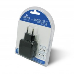 LEOTEC CARGADOR TABLET Y SMARTPHONE DOBLE 5V 2A (LECTAB2USB)