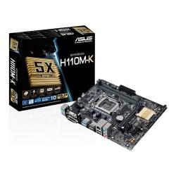 Placa Base INTEL ASUS H110M-K s1151 2xDDR4 VGA DVI 4USB3 4SATA3 mATX