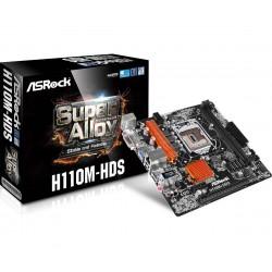 Placa Base INTEL s1151 ASROCK H110M-HDS 2xDDR4 DVI HDMI 4xSATA3 4xUSB3