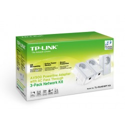 Powerline TP-LINK Shucko Kit 3 PLC 500MB (TLPA4010PTKIT)
