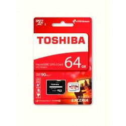 Memoria MicroSDHC Toshiba 64Gb C10 R90 Con Adapt. (THN-M302R0640EA)