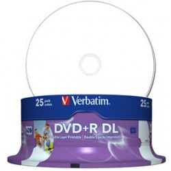 DVD+R Doble Capa 8x Verbatim Pack 25