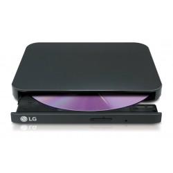 Regrabadora DVD LG Externa Slim USB2 Negro (GP90EB70)