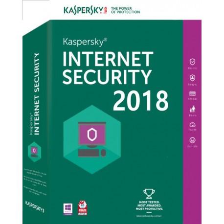 Antivirus Kaspersky Internet Security 2018 1xUsuario (KL1941S5AFS-8)