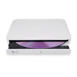 Unidad Regrabadora Externa LG DVD/CD Slim USB2 Blanca (GP90EW70)