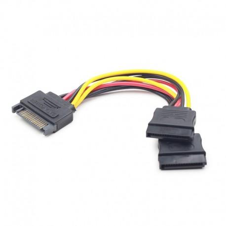 Cable Alimentación GEMBIRD SATA A 2 SATA (CC-SATAM2F-01)