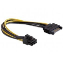 Cable Alimentacion GEMBIRD SATA a PCIe 6PINES (CC-PSU-SATA)