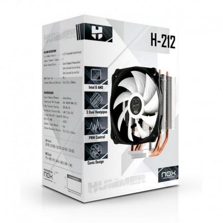Ventilador CPU NOX HUMMER H-212 MULTISOCKET 1150/1/6/5/2011/FM1/2/AM3/2
