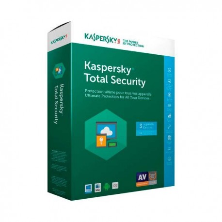 Antivirus Kaspersky Total Security 2018 3xUsuarios (KL1919S5CFS-8)