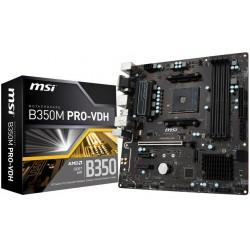 Placa Base AMD MSI B350M PRO-VDH 4xDDR4 VGA DVI HDMI
