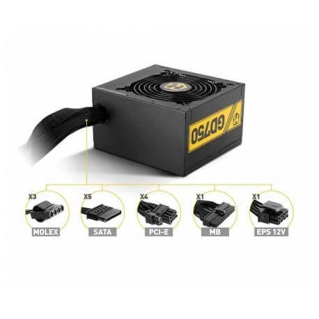 Fuente ATX NOX Hummer GD 750W 80 Gold (NXHM750GD)