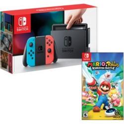 Consola Nintendo Switch AZUL NEON/ROJO NEON Mario Rabbids Kingdom