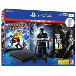 Consola PS4 Slim 1Tb + Ratchet & Clank + The Last of Us + Unchar4 + NBA2K19