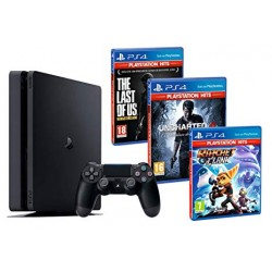 Consola PS4 Slim 1Tb + Ratchet & Clank + The Last Of Us + Uncharted 4 + COD Black Ops 4