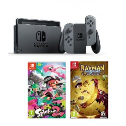 Consola Nintendo Switch Gris + Juegos Splatoon 2 y Rayman Legend