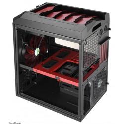 Carcasa Semitorre Gaming AEROCOOL XPREDATOR CUBE RD Negro/Rojo