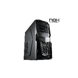 Carcasa Semitorre Nox Raven USB3 + Lector de Tarjetas Negra (Sin Fuente)
