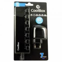 Hub USB Coolbox 7 Salidas USB3.0/2.0 con Alimentación (COO-UPH356A)