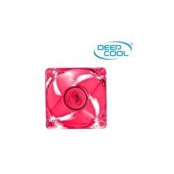 Ventilador Auxiliar Carcasa DeepCool 12x12 Transparente Led Roja